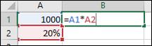 Excel formel til udregning Procent af Beløb.