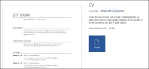 Opret CV