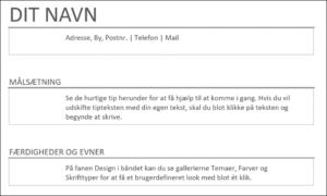 Råt CV - Top