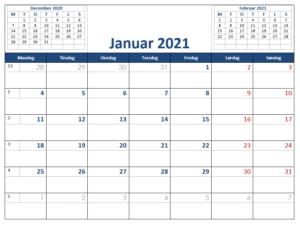 Kalender i Word