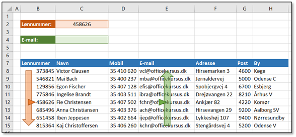 Excel LOPSLAG