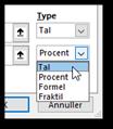 Betinget formatering: indstille typen