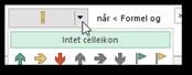 Betinget formatering: Ændre celleikon