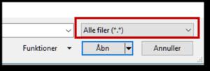 Husk at vælge alle filer når du vil åbne en PDF fil i Word
