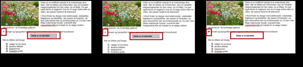 Eksempel på fejl når du konverterer pdf til Word