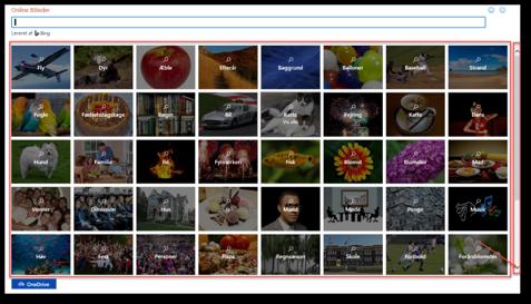 Kategorier til online billeder