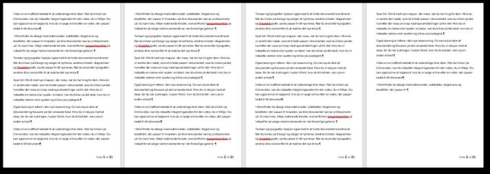 Tekst med sideformatet til folder