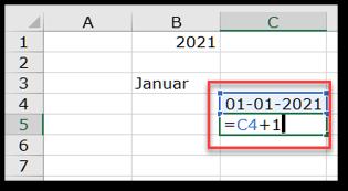 Læg 1 til 1. januar så du får 2. januar
