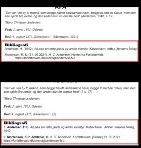 Litteraturliste i Word eksempler på standarder