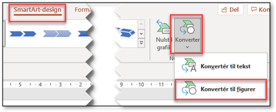 Konverter smartArt til Figur