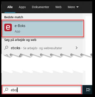 Søg i Windows 10 efter app til hjemmeside
